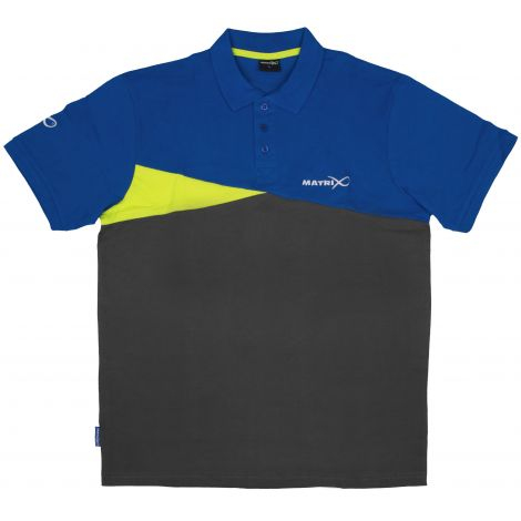Matrix Polo Shirt Blue/Grey XL