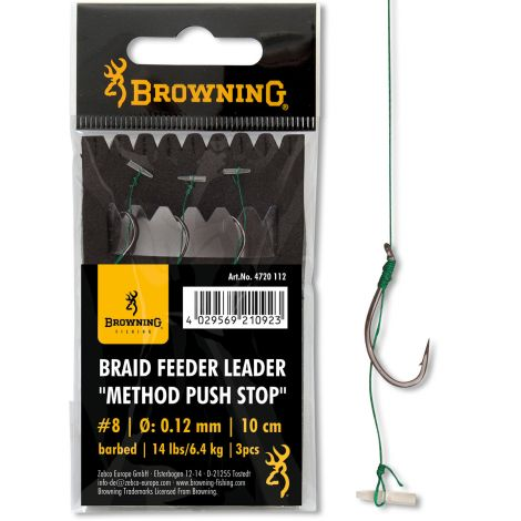 Browning przypon Method Pushstop na plecionce Nr8