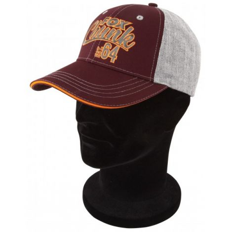 Fox Czapka Grey/Burgundy/Orange Baseball Cap
