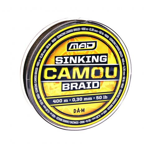 MAD plecionka Sinking Camou Braid 400m/0,20mm/22lb