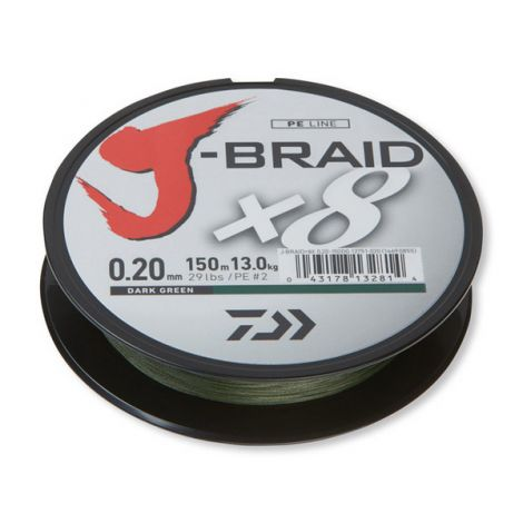 Daiwa plecionka J-Braid X8 0,20 1m Dark Green